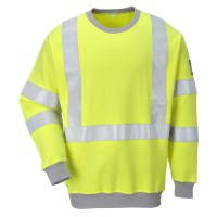 Sweatshirt FR antistatique Hi-Vis Jaune PORTWEST